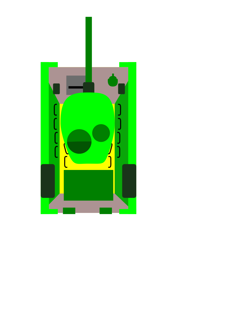 Tank Clipart Top View.