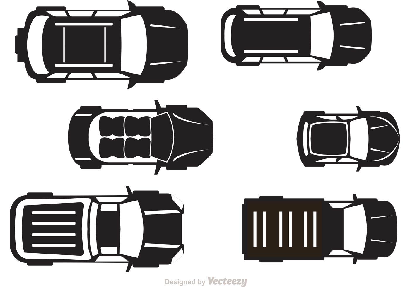 Car Silhouette Top Free Vector Art.