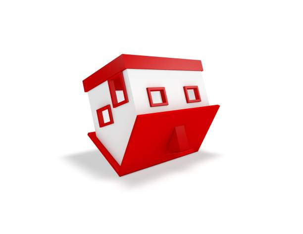 Upside Down House Clipart.