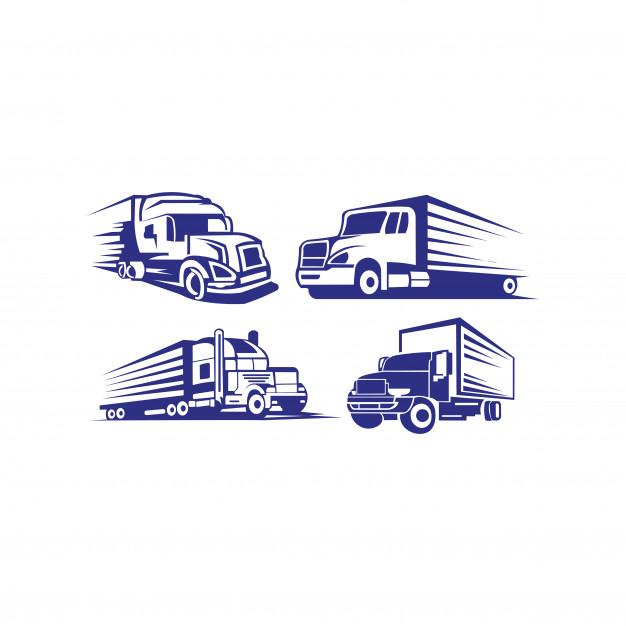 Truck trailer logo transportation.