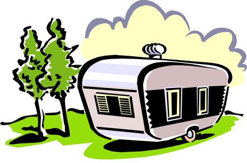 Camper clipart trailer park, Camper trailer park Transparent.