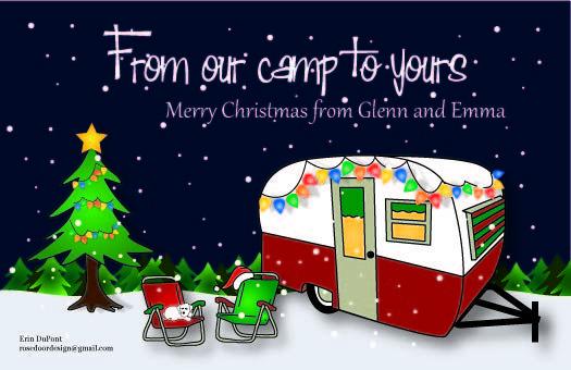 camper Christmas card.