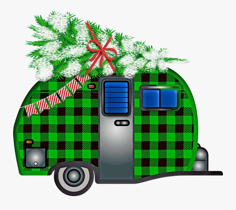 Christmas Trailer, Buffalo Plaid, Christmas Tree , Free.