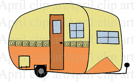 Campers trailers clip art.