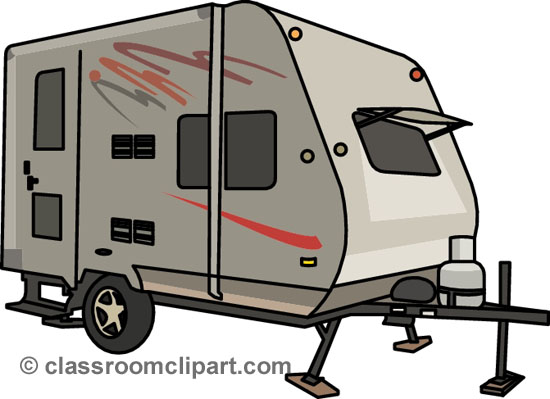 Camping Trailer Clipart.