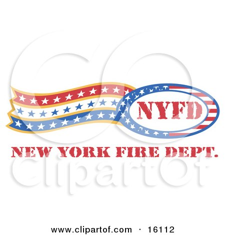 Circle Of Stars And Stripes Around Nyfd With Trailing Stars.