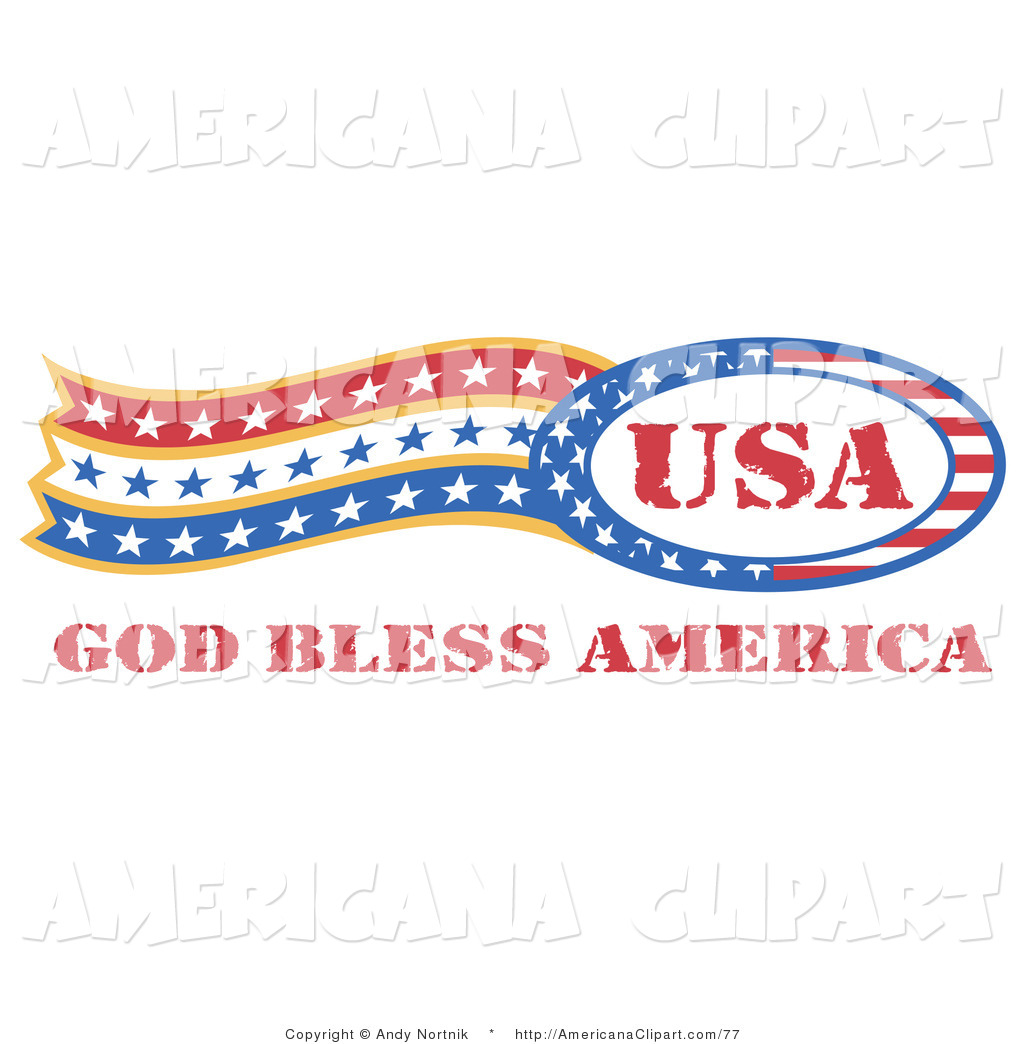 Americana Vector Clip Art of an American Patriotic Circle of Stars.
