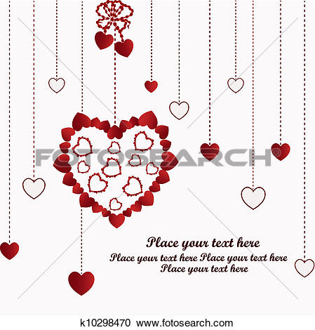 Clipart of Beautiful trailing hearts k10298470.