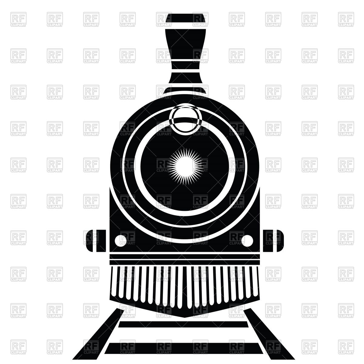 Train Front View Clipart.