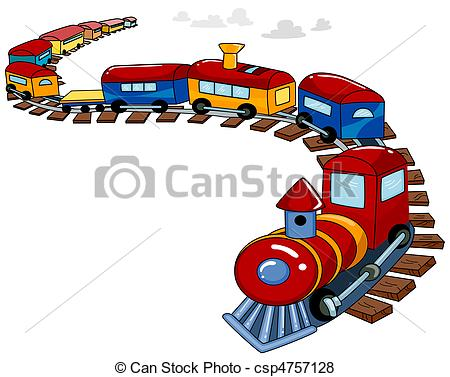 Stock Illustration of Toy Train Background.
