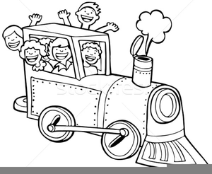 Free Train Clipart Black And White.