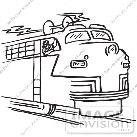 Train Clipart Free Black And White.