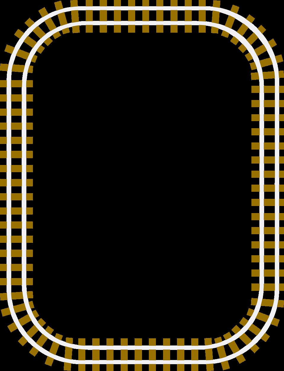 Free Train Borders Clipart.