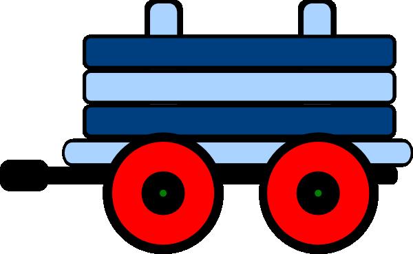 Blue Train Car Clipart.