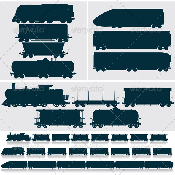 Christmas Train Silhouettes Pictures to Pin on Pinterest.