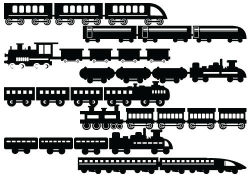 Silhouette of Trains with wagon. #trains #wagon #silhouette.