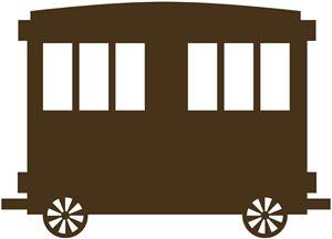 train cars clipart silhouette #5