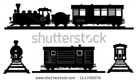 Train Silhouette Stock Images, Royalty.
