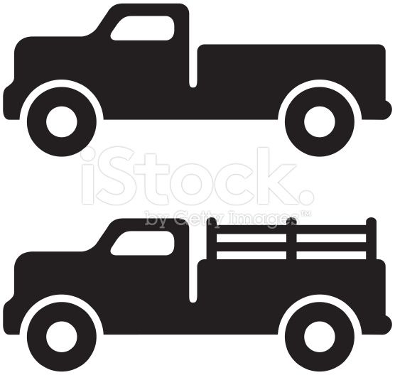 Truck Clipart Silhouette Clipground