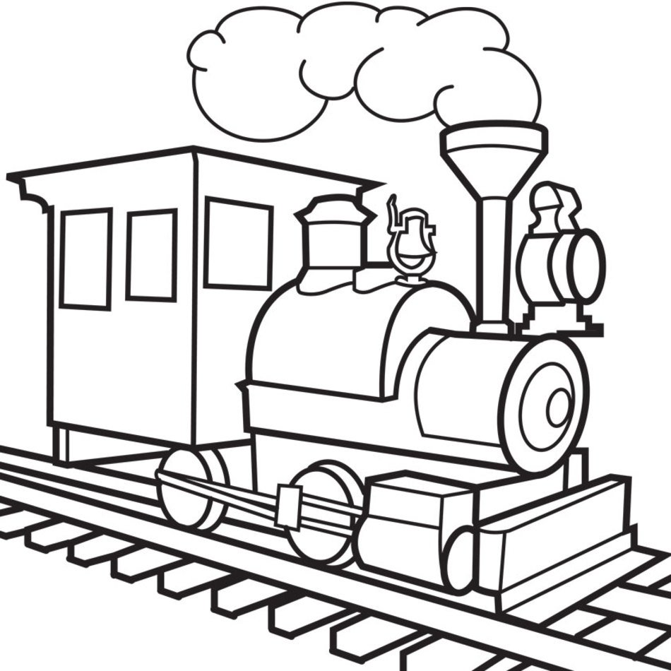 Black and white drawing of the train clipart free image.