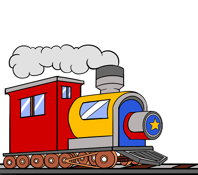 How to Draw a Train in a Few Easy Steps.