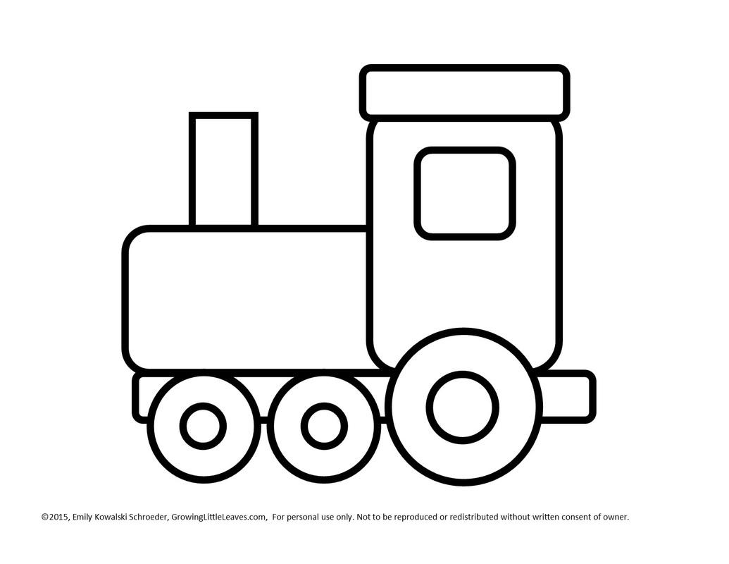 Simple Train Clipart.