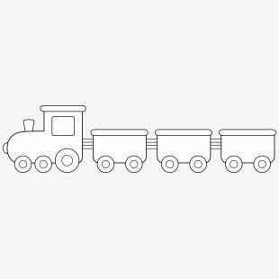 Cute Colorable Train Design.