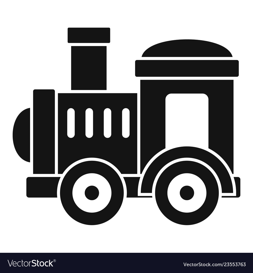 Toy train icon simple style.