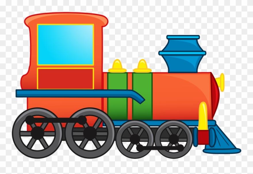 Illustration Of Cartoon Train Vector Art.