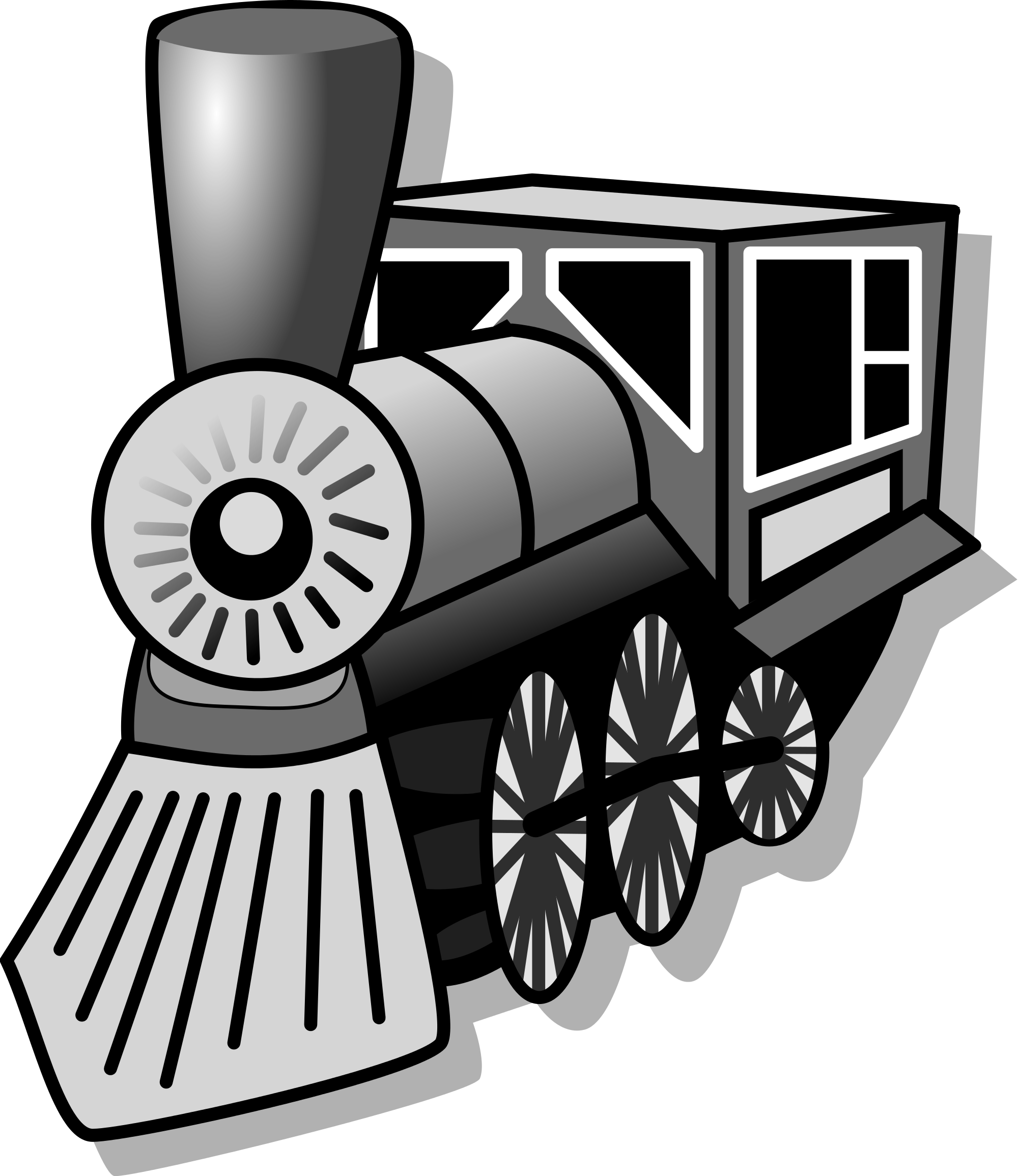 train clipart front view #4