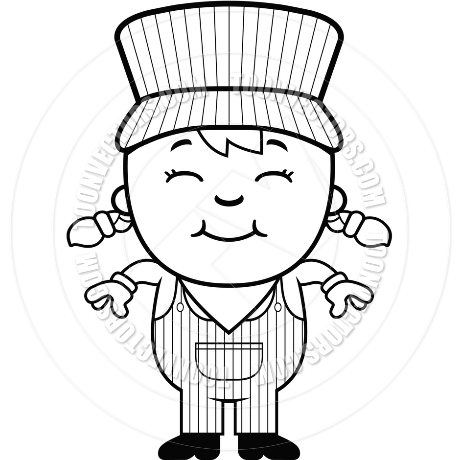 Train Conductor Clipart Black And White.
