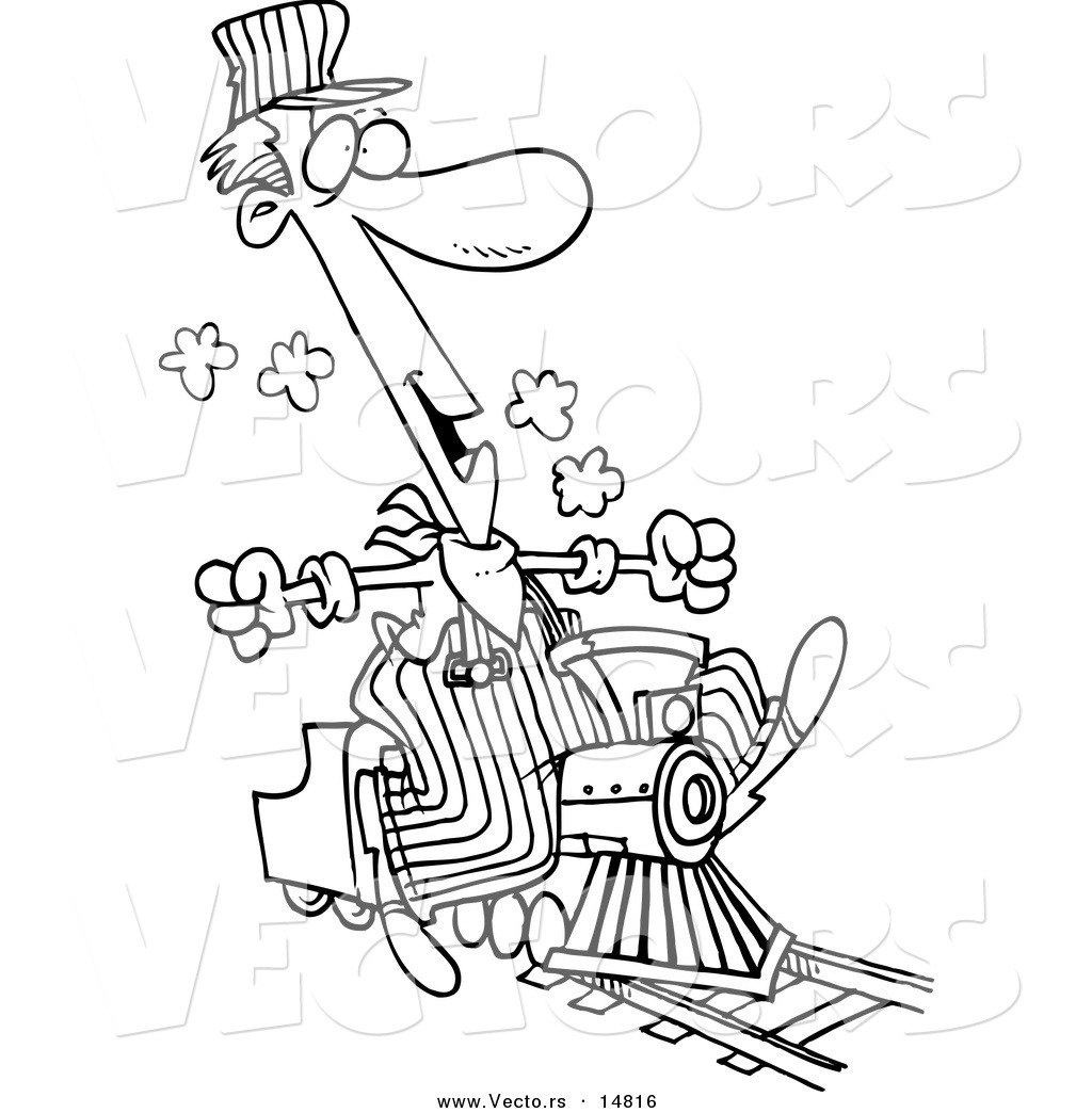 Train Engineer Clipart Black And White.