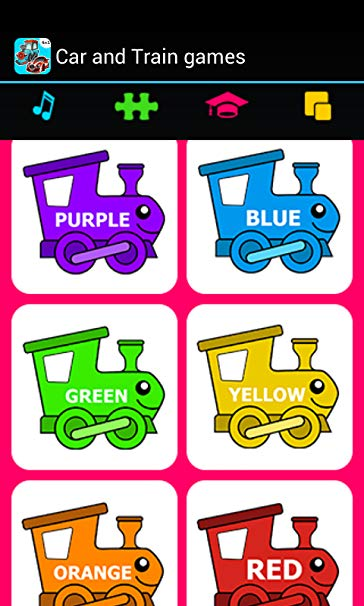 Car & Train games for toddlers.