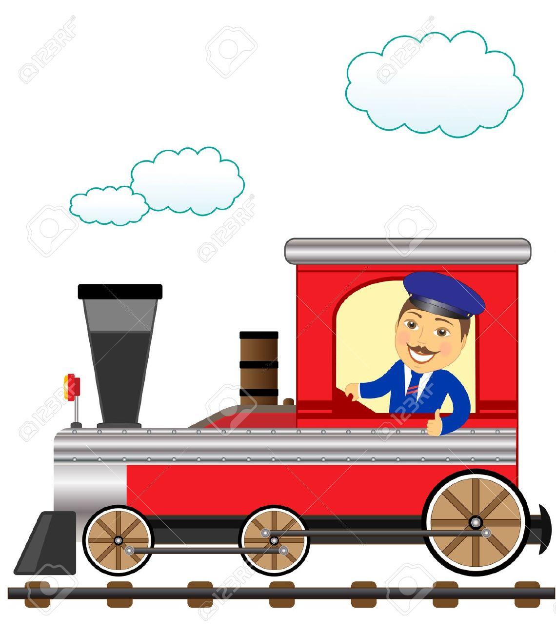 Train driver clipart - Clipground