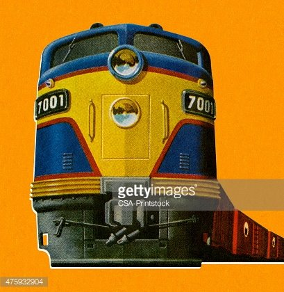 Front of a Train Engine Clipart Image.