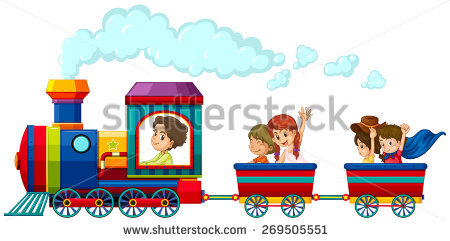Kids Train Stock Images, Royalty.