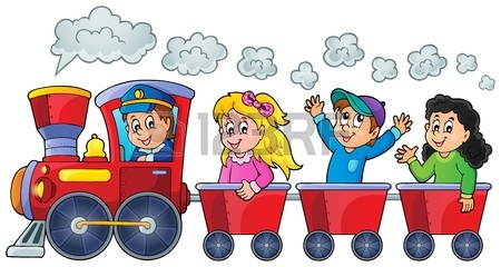 Train With Happy Kids Royalty Free Cliparts, Vectors, And Stock.