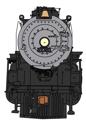 ATSF 3751 (front view) by JulianKoehler3751.deviantart.com.