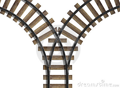 Railroad Junction Royalty Free Stock Photo.