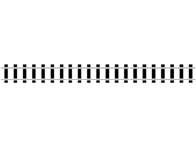 Curved train tracks clipart.
