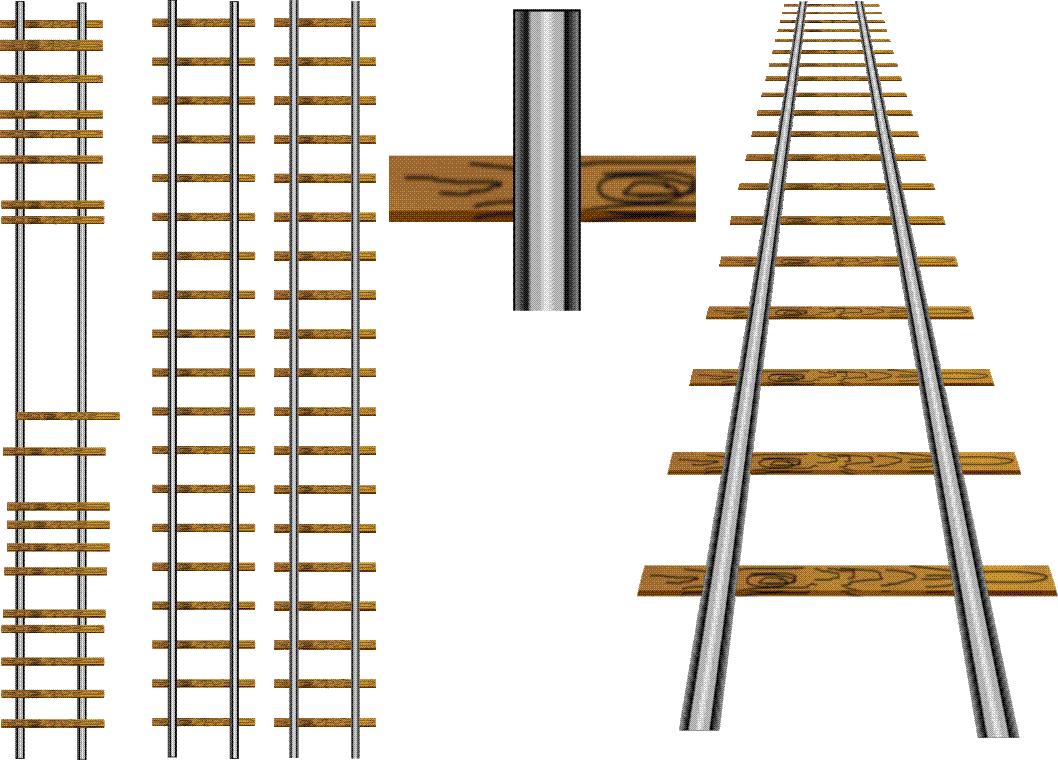 Drawing a railway line.
