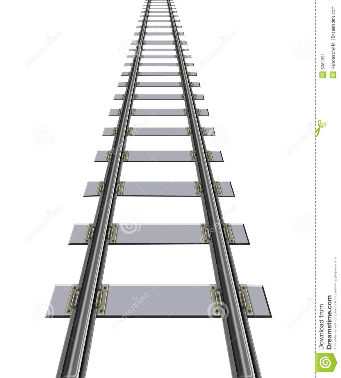 Train tracks clipart black and white.