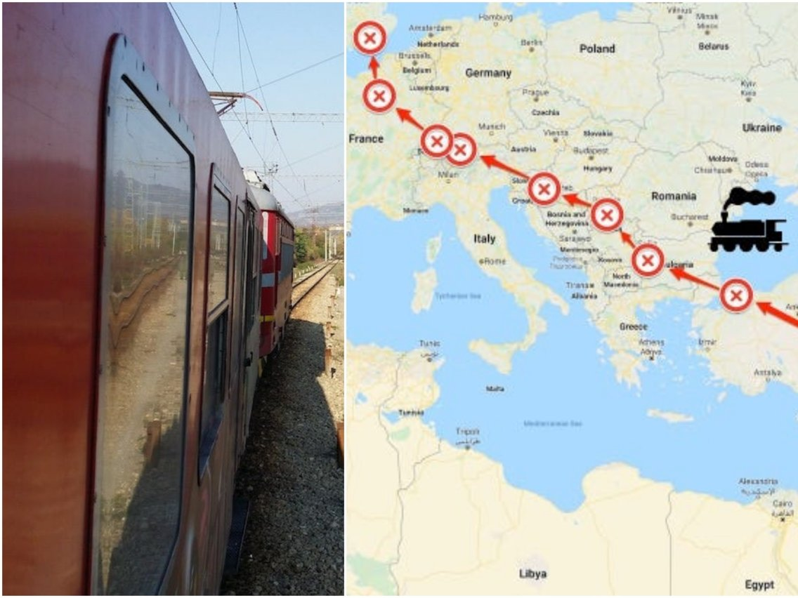 Photos: I traveled across Europe by train in 8 days for.