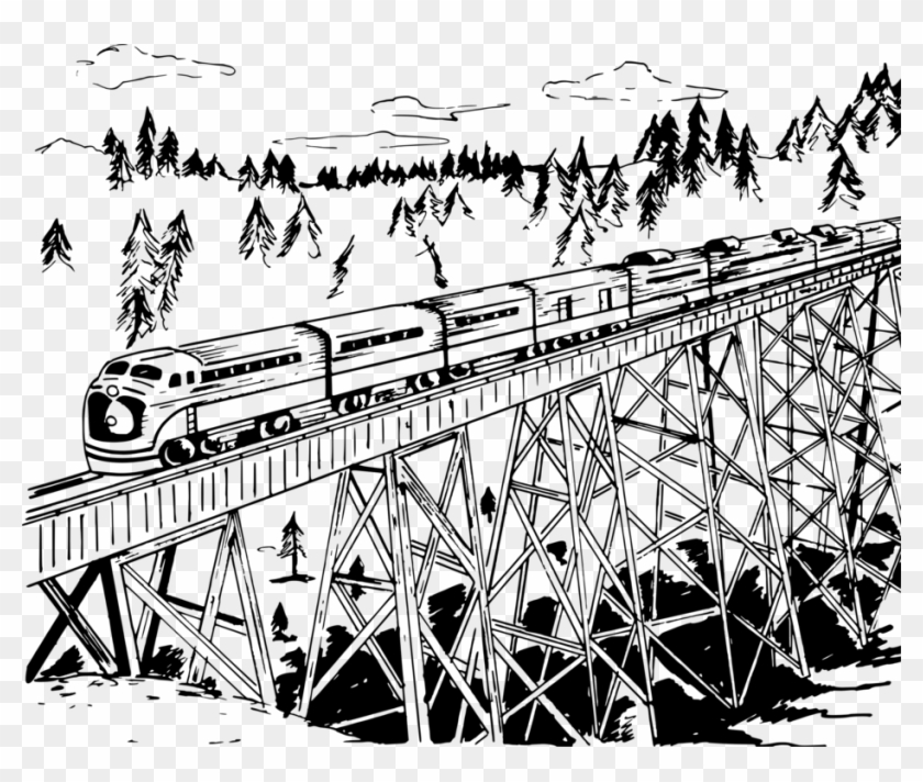 Trestle Bridge Rail Transport Track Rail Profile Computer.