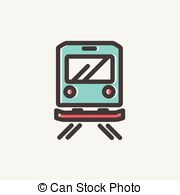EPS Vector of Front view of train line icon..