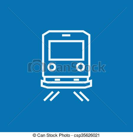 Vector Illustration of Back view of train line icon..