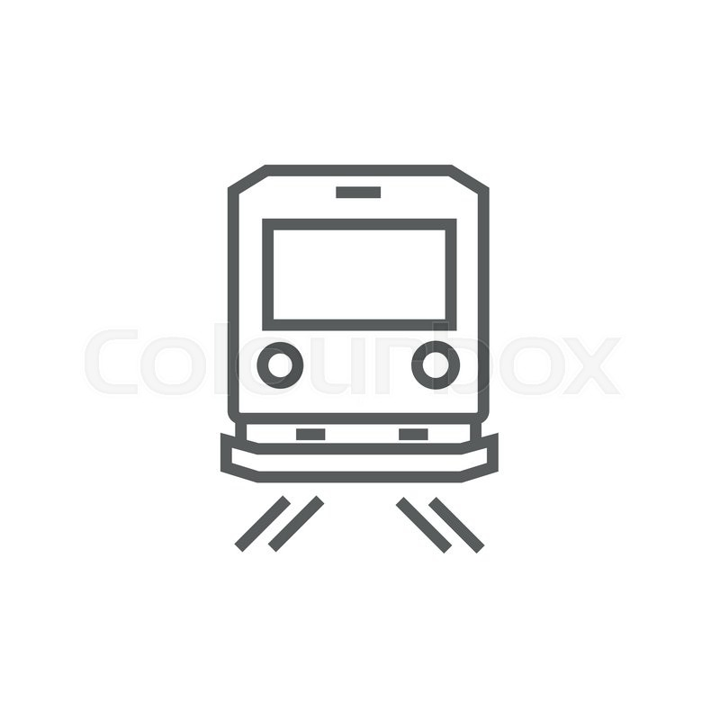 "Buy Vector ""Back view of train thick line icon with pointed."