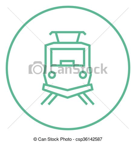 Vector of Front view of train line icon..