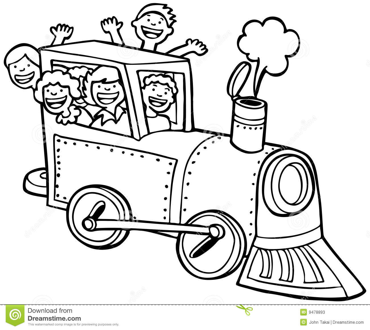 Train Clipart Black And White Child Train Ride Black White 9478893.