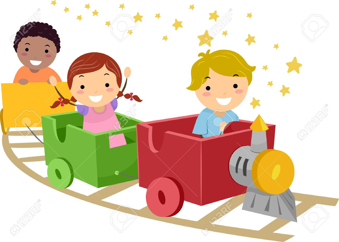 Train kids clipart.